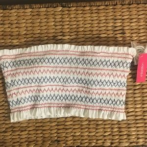 BNWT XHilaration Bathing Suit Top or Tube Top